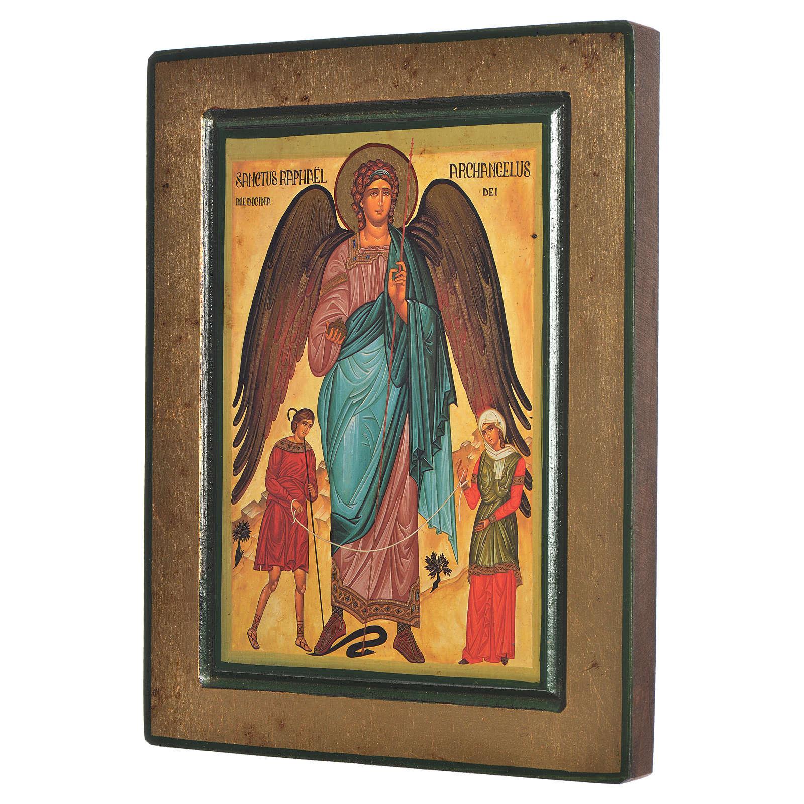 Icono griego serigrafado San Rafael 4