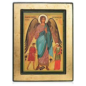 Icono griego serigrafado San Rafael s1