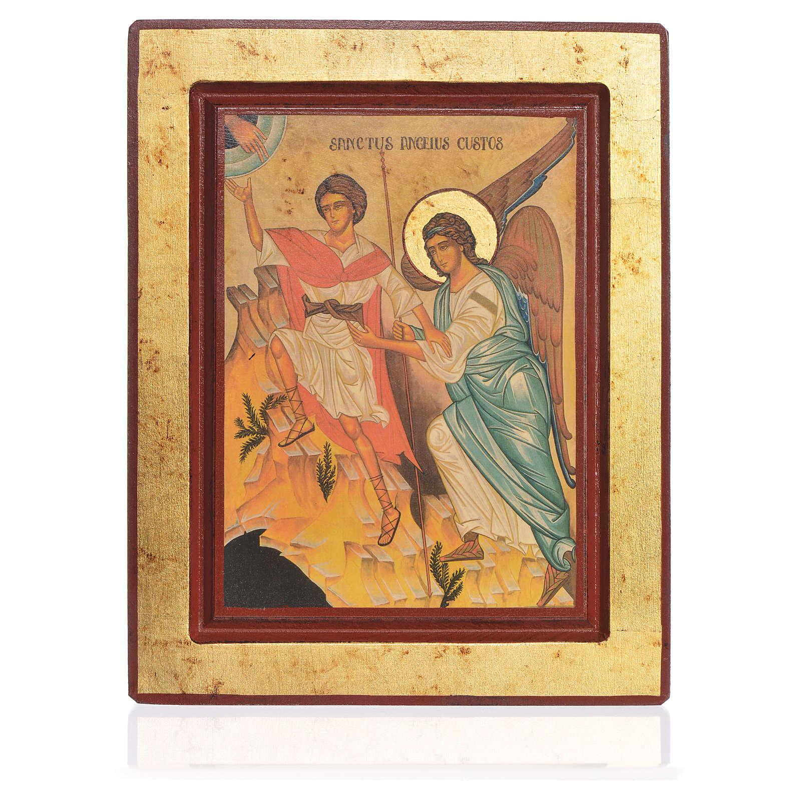 Ícone grego serigrafado Anjo da Guarda 22x25 cm 4