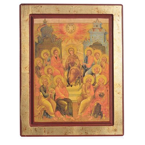 Icona greca serigrafata Discesa Spirito Santo 1