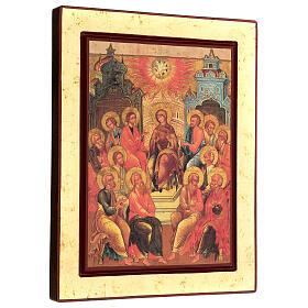 Ícone grego serigrafado Descida do Espírito Santo s3