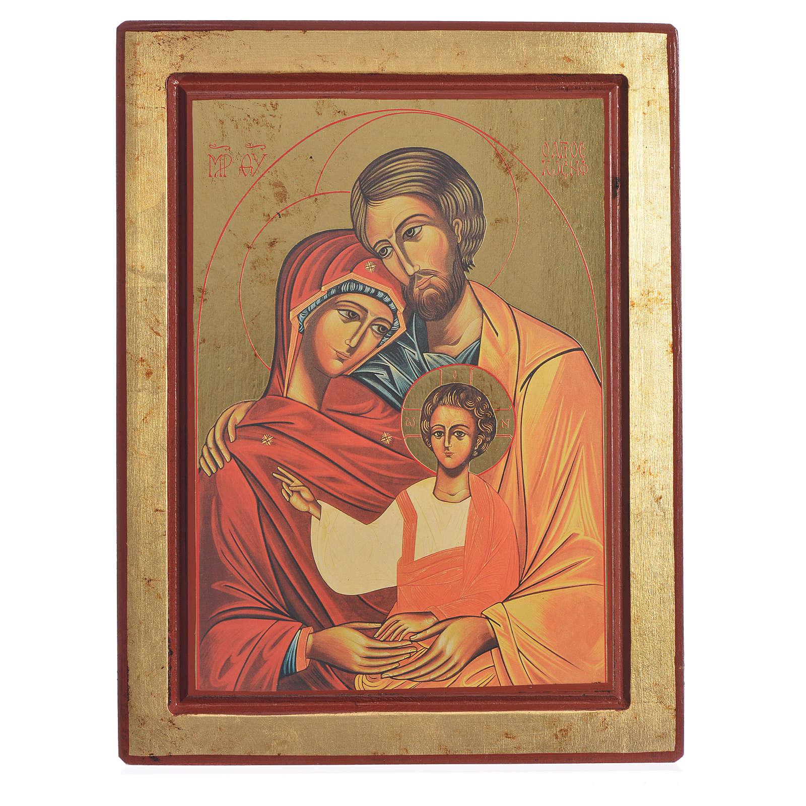 Icona greca serigrafata S. Famiglia 4