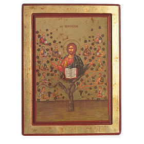 Greek Serigraph Icon, Tree of Life s1