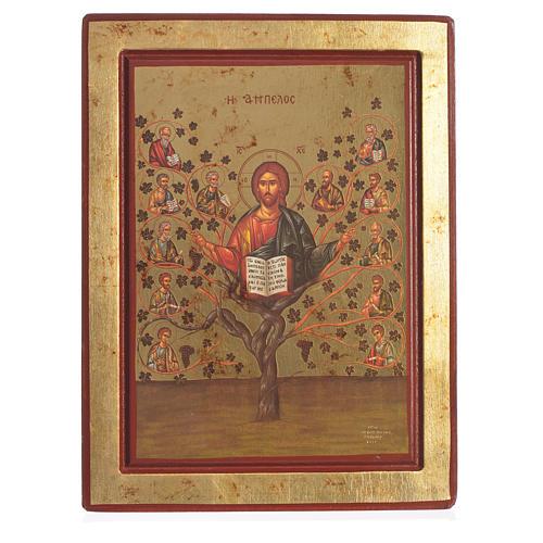 Greek Serigraph Icon, Tree of Life 1