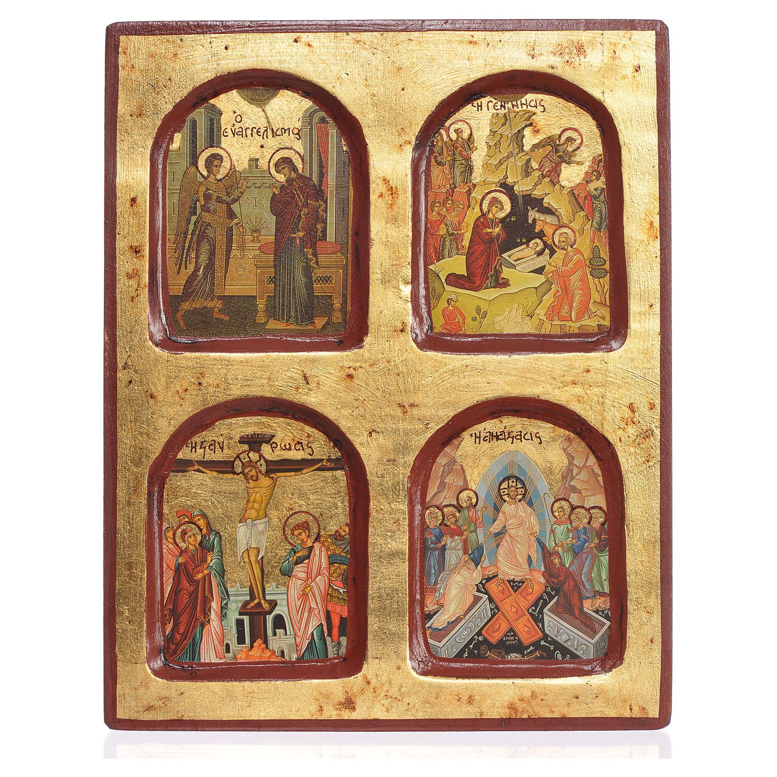 Icona greca serigrafata Misteri della Fede 18x22 4