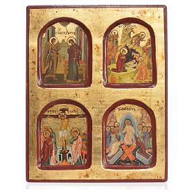 Icona greca serigrafata Misteri della Fede 18x22 s1