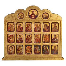 Icona serigrafia 19 immagini Madonna 42x36 s1