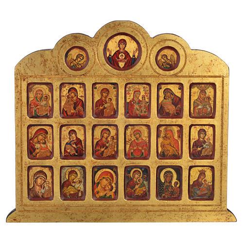 Icona serigrafia 19 immagini Madonna 42x36 1