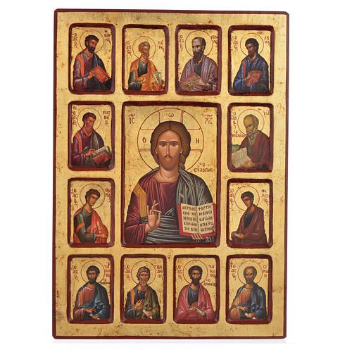 Icona serigrafata Cristo e Apostoli 30x40 1
