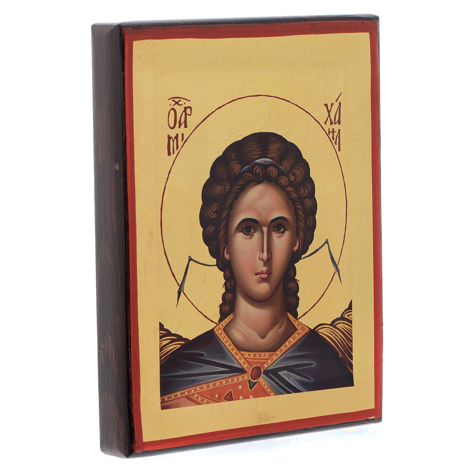 Icône Grèce sérigraphie Archange Saint Michel  20x16 cm 4