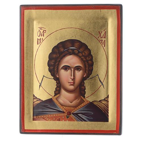 Icône Grèce sérigraphie Archange Saint Michel  20x16 cm 1