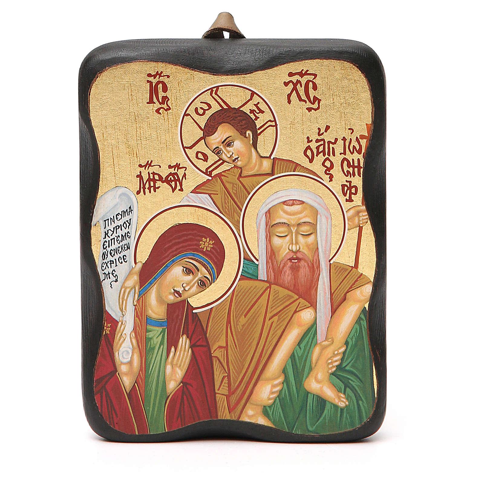 Icona stampa 10x13 cm Sacra Famiglia 4