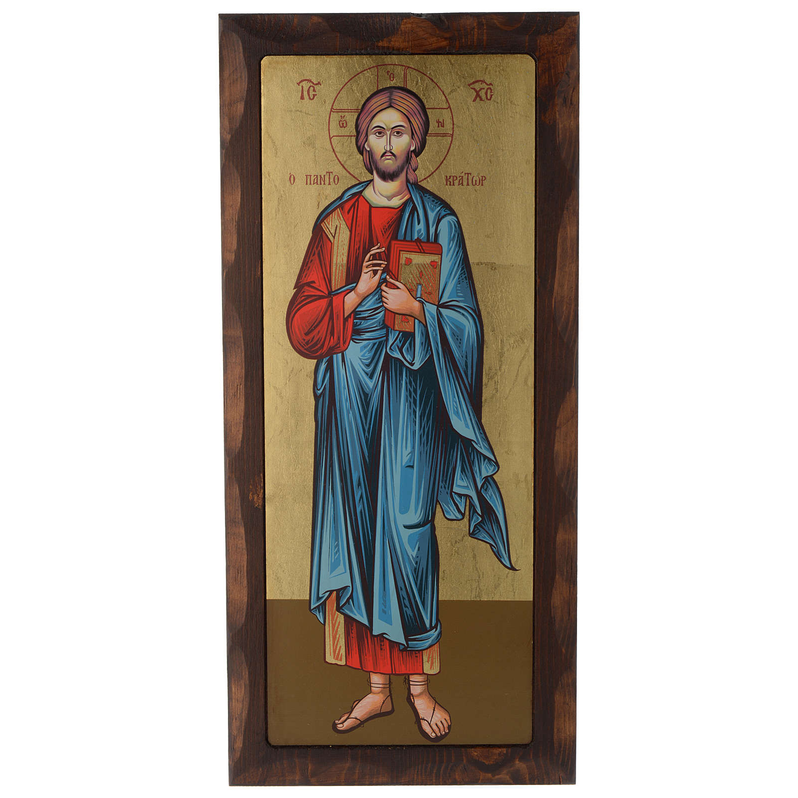 Icona greca serigrafata Cristo Pantocratore 55x25 cm 4