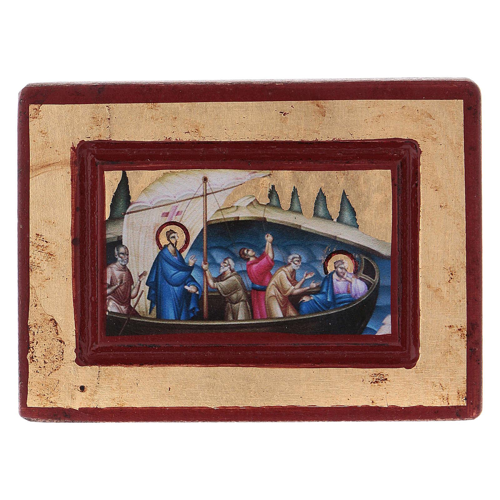 Icona Gesù e i discepoli Greca in legno 6x8 cm serigrafata 4