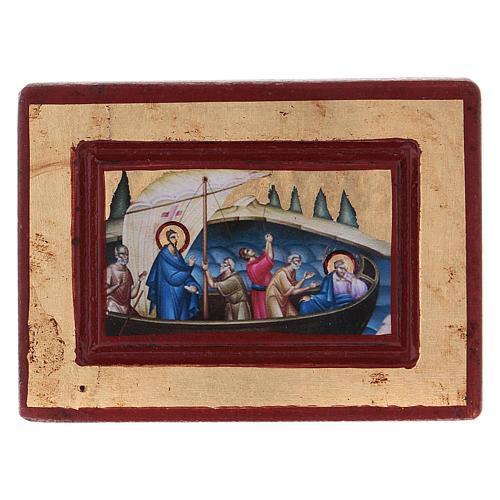 Icona Gesù e i discepoli Greca in legno 6x8 cm serigrafata 1