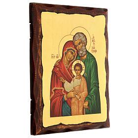Icono griego serigrafado con Sagrada Familia 25x20 s3