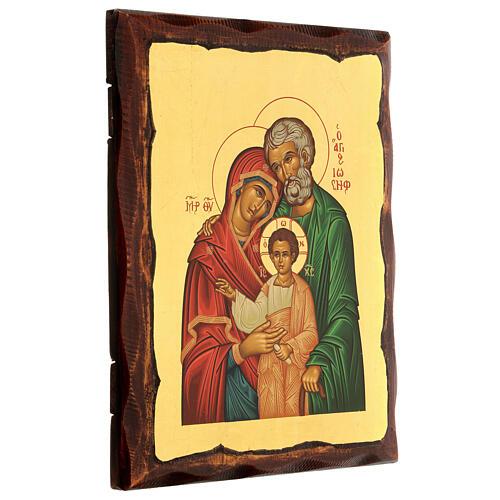 Icono griego serigrafado con Sagrada Familia 25x20 3