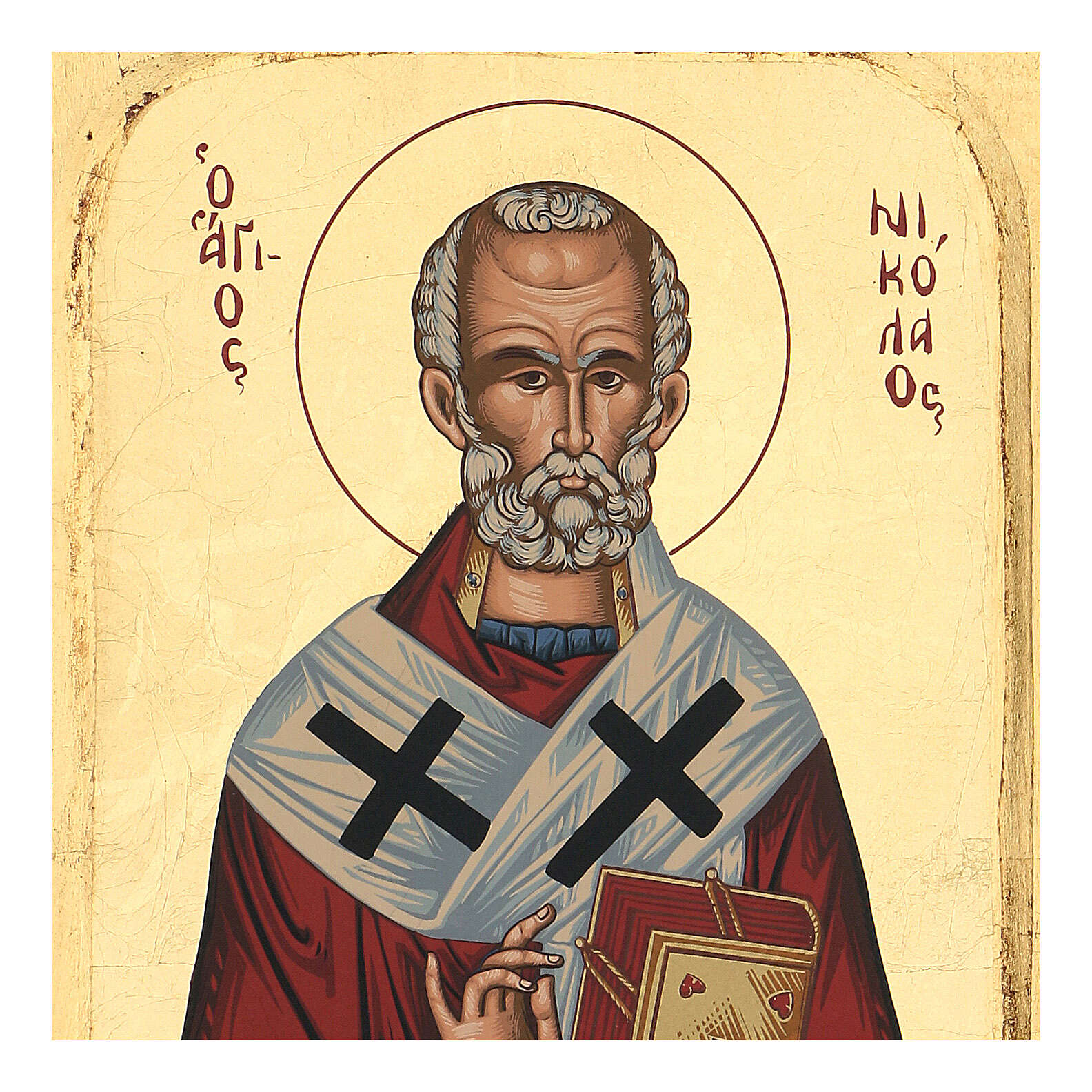 Icono relieve griego serigrafado San Nicolás 25x20 4
