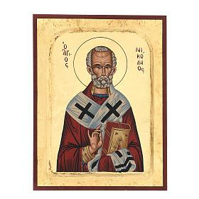 Icona rilievo greca serigrafata San Nicola 25X20 s1
