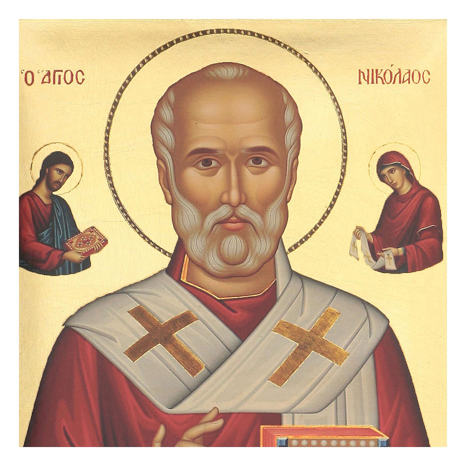 Icona serigrafata San Nicola 35X25 4