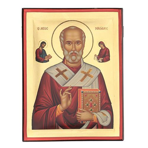 Icona serigrafata San Nicola 35X25 1
