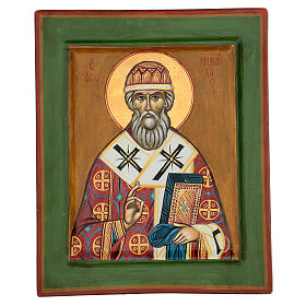 Icono griego San Nicolás 35x25 cm pintado s1
