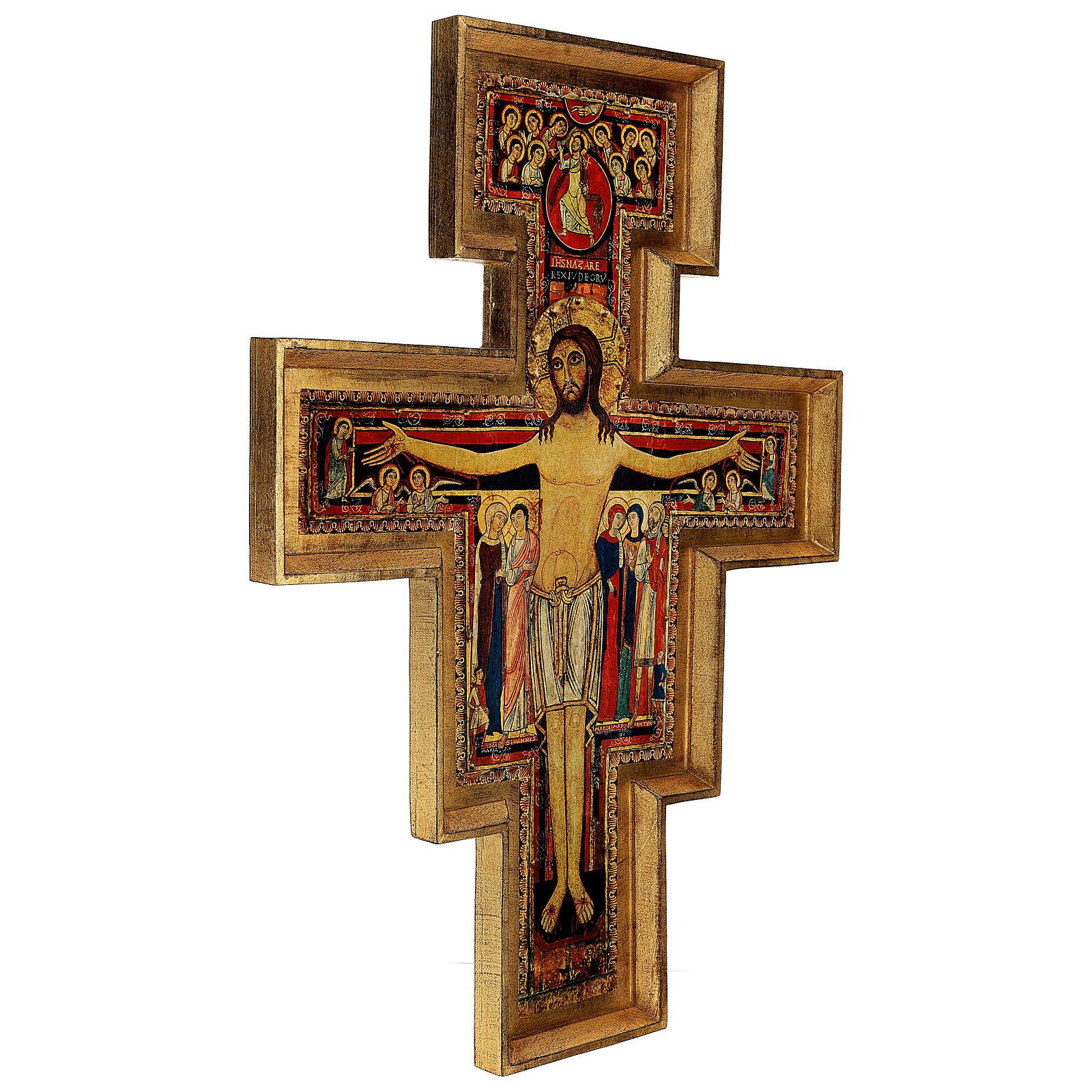 STOCK Cruz San Damián impresa en pasta de madera 110x80 cm 4