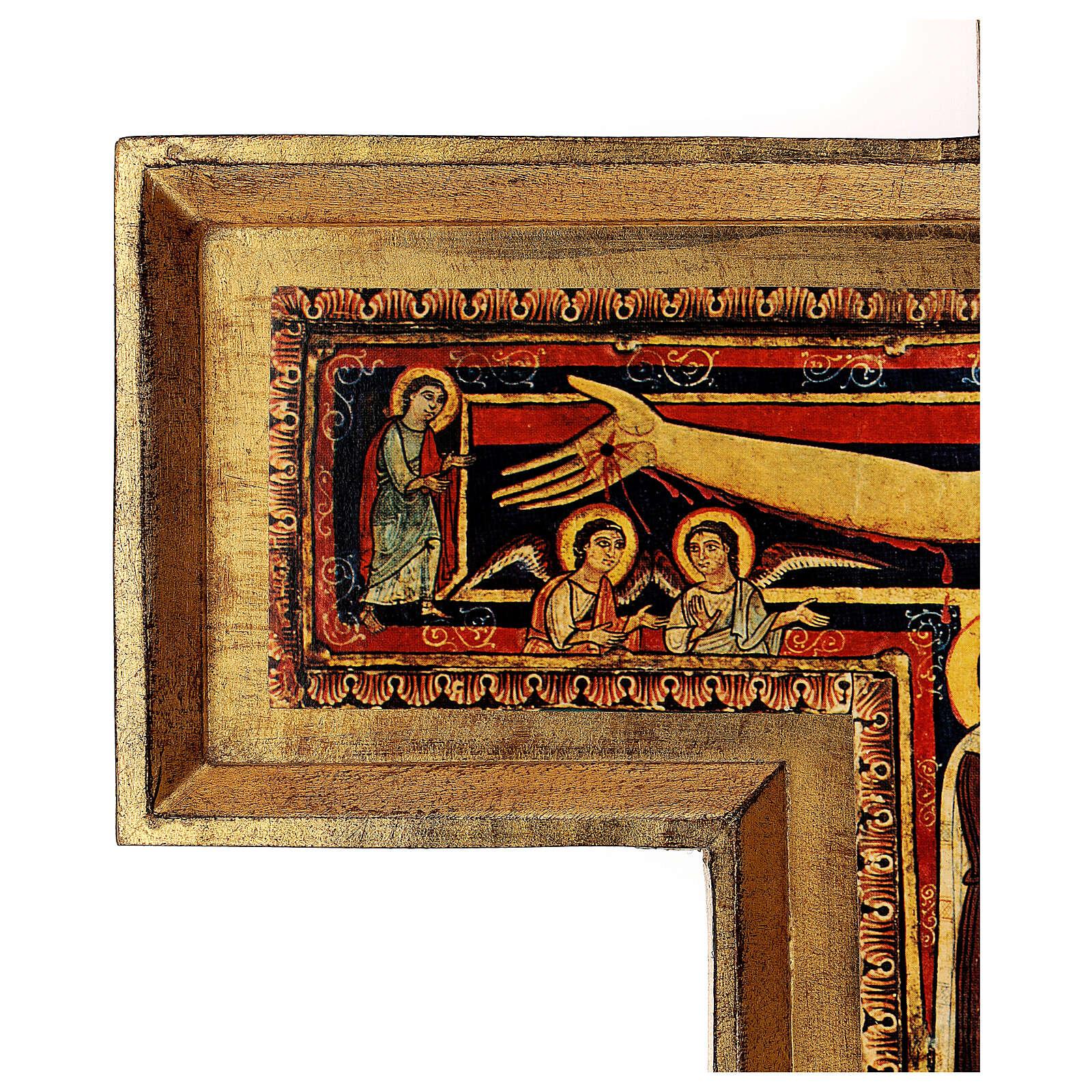 STOCK Croix Saint Damien impression sur pâte à bois 110x80 cm 4