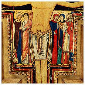 STOCK Croix Saint Damien impression sur pâte à bois 110x80 cm s6