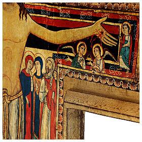 STOCK Croix Saint Damien impression sur pâte à bois 110x80 cm s7