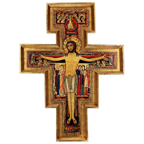 STOCK Croix Saint Damien impression sur pâte à bois 110x80 cm 1