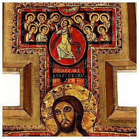 STOCK Croce San Damiano stampa su pasta di legno 110x80 cm s4