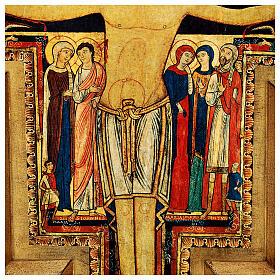 STOCK Croce San Damiano stampa su pasta di legno 110x80 cm s6