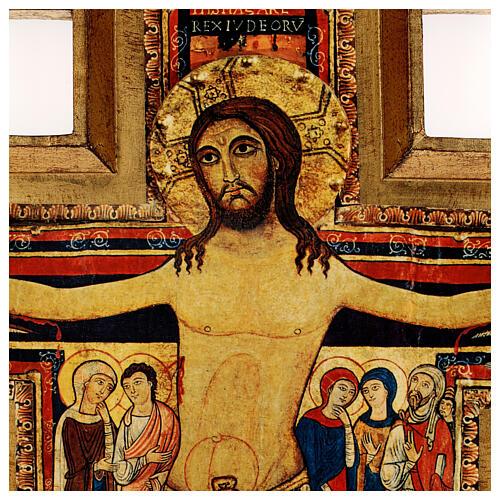 STOCK Croce San Damiano stampa su pasta di legno 110x80 cm 2