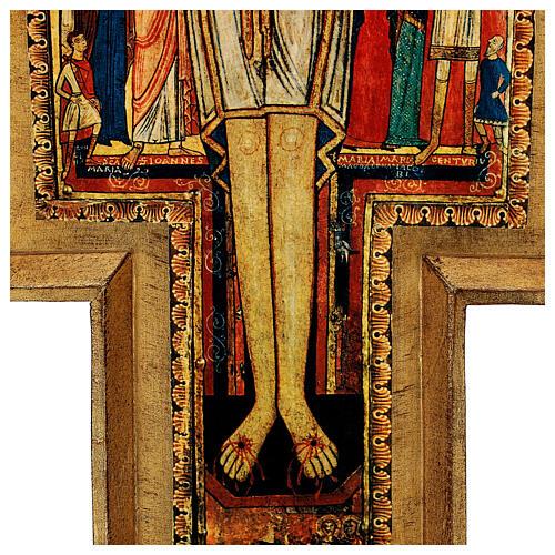 STOCK Croce San Damiano stampa su pasta di legno 110x80 cm 8