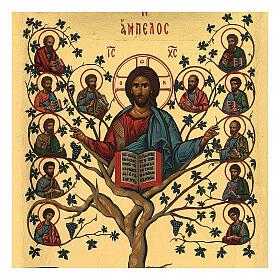 Greek orthodox Tree of life serigraph icon, 20x15 cm s2