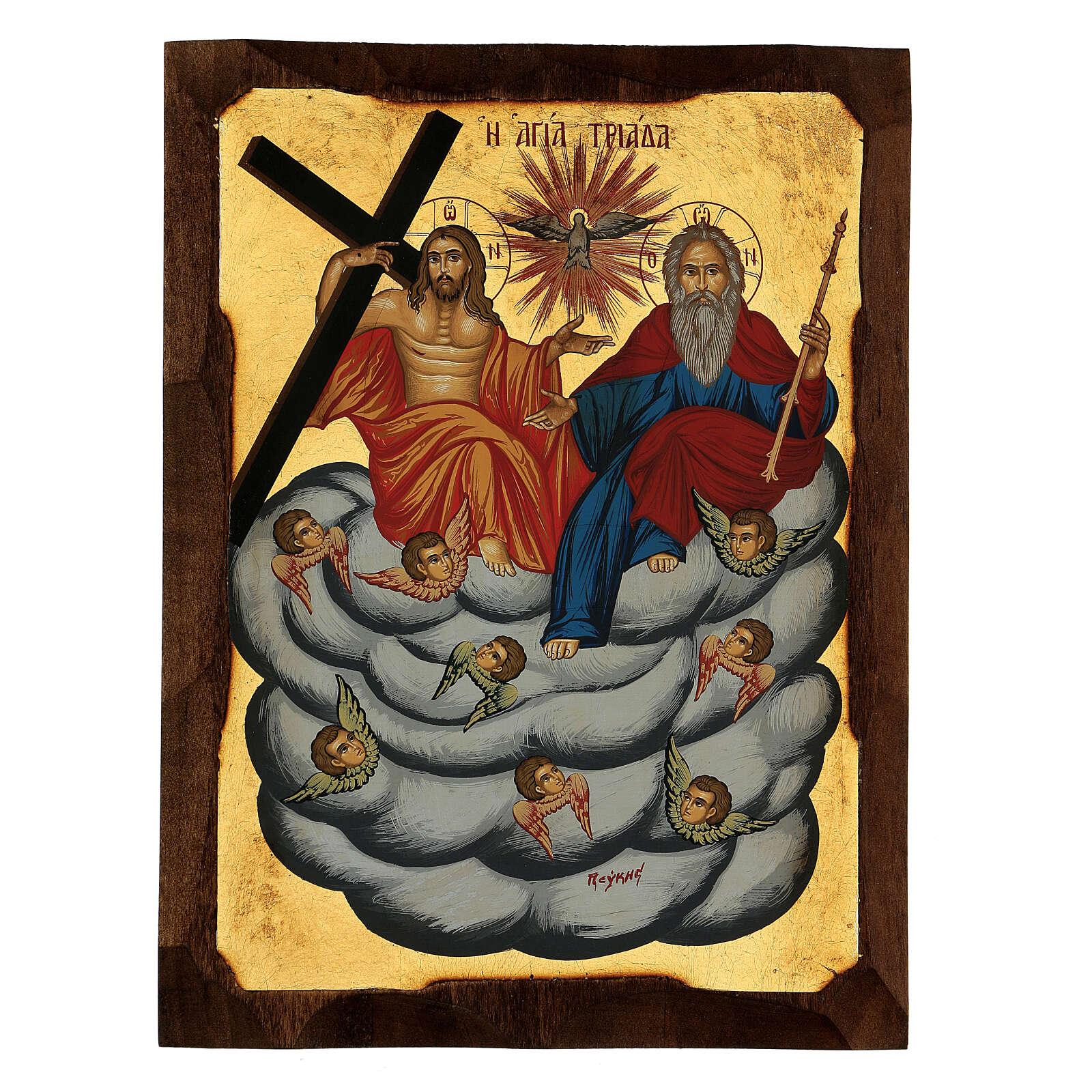 Icona greca Trinità e Angeli serigrafata 30x20 cm 4