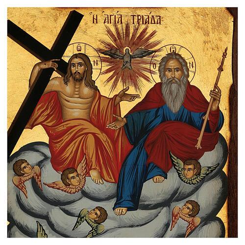 Icona greca Trinità e Angeli serigrafata 30x20 cm 2