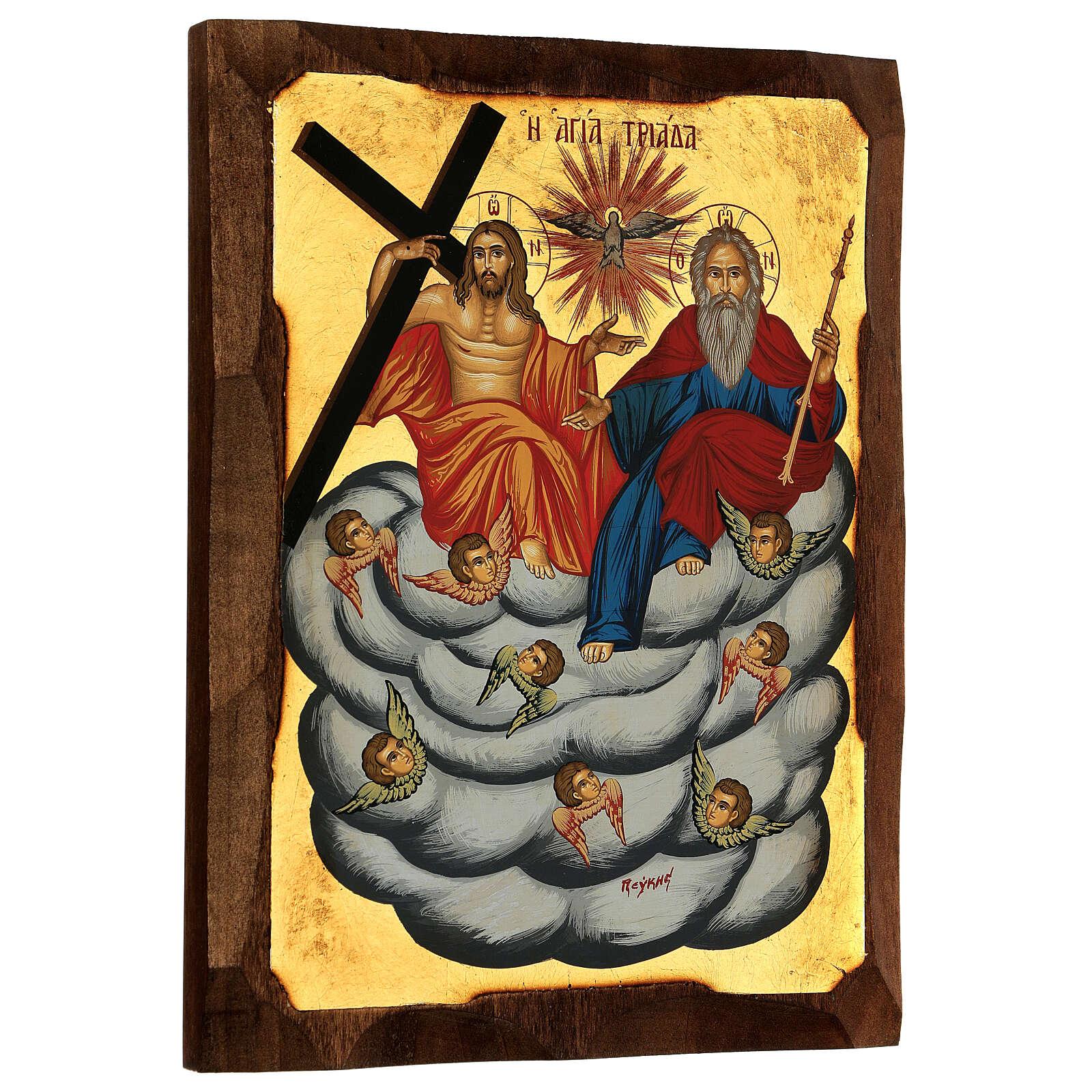 Greek orthodox Holy Trinity serigraph icon, 30x20 cm 4