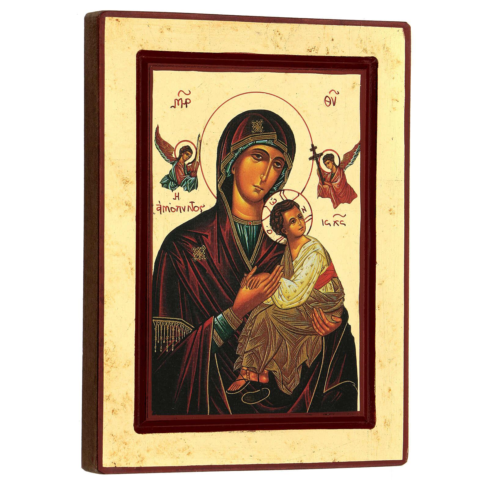 Icona Madonna della Passione Grecia serigrafia 24x18 cm 4