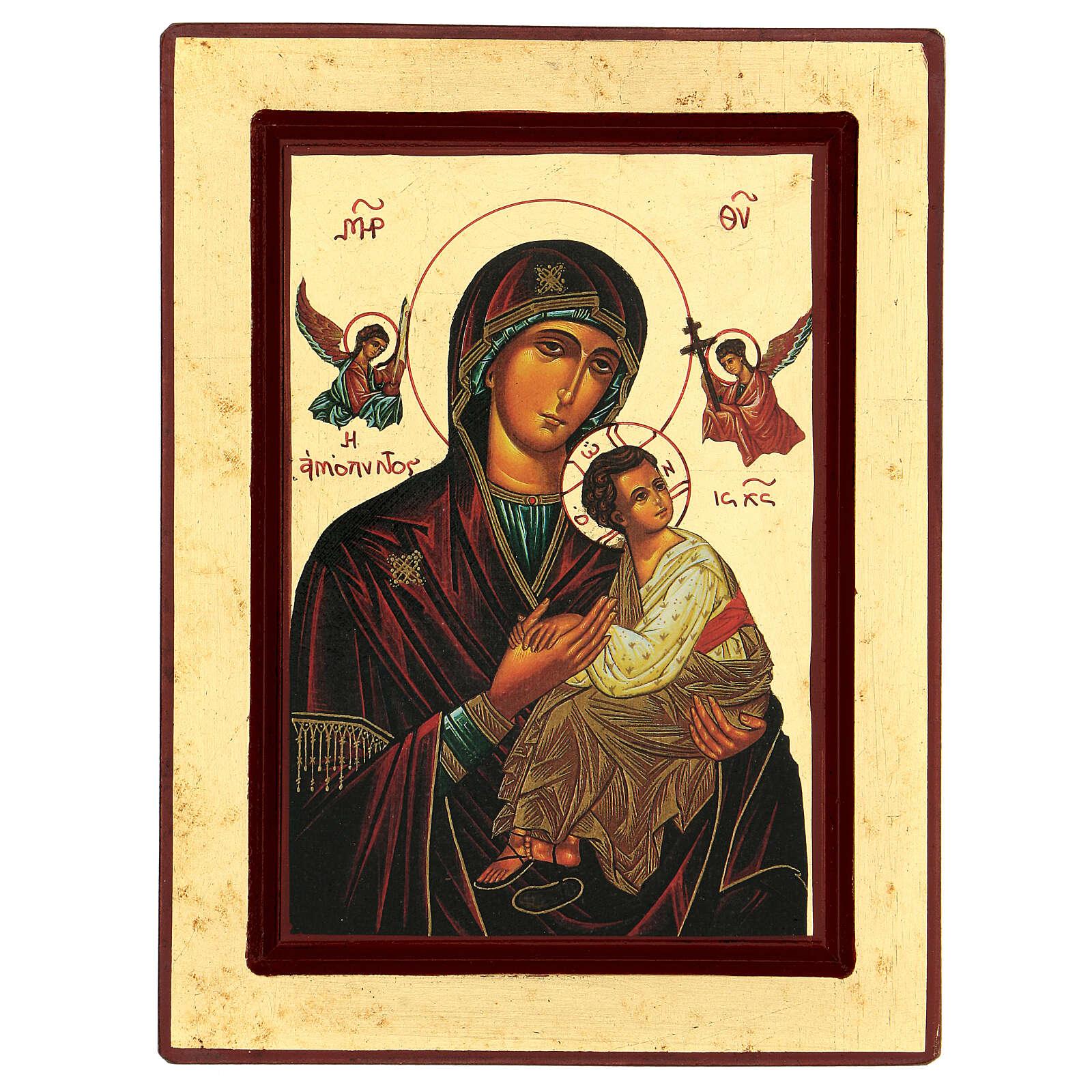 Theotokos of the Passion Greek serigraph icon 24x18 cm 4