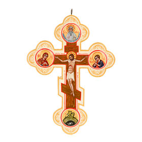 Icona Croce icona dipinta russa avorio s1