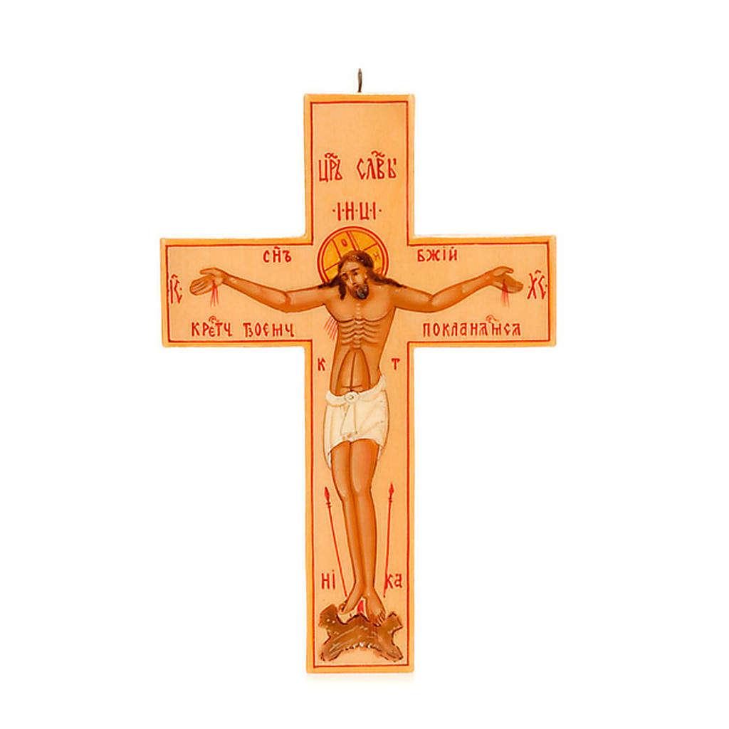 Croce icona russa legno chiaro 4