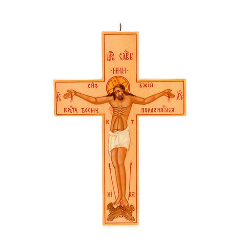Croce icona russa legno chiaro 1