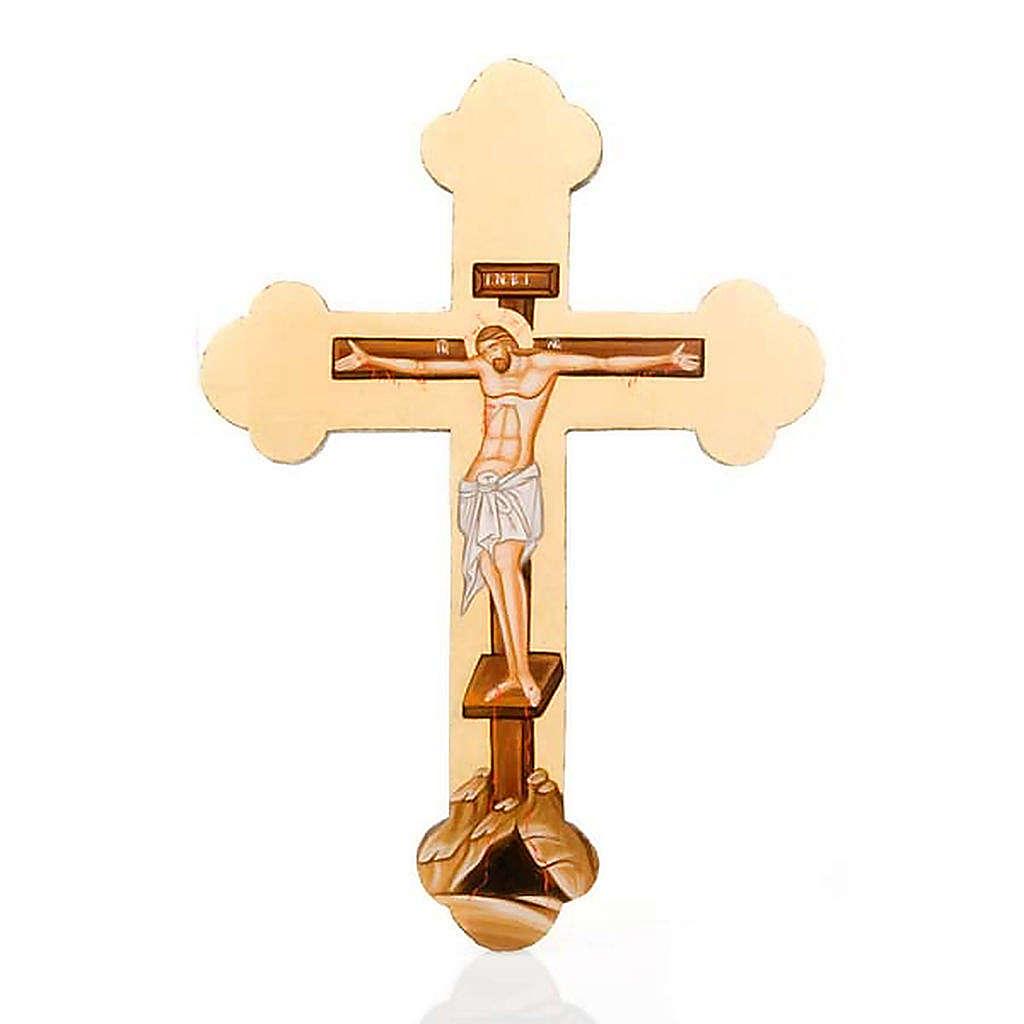 Croce sagomata icona dipinta Grecia 4