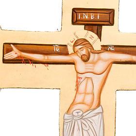 Croce sagomata icona dipinta Grecia s2
