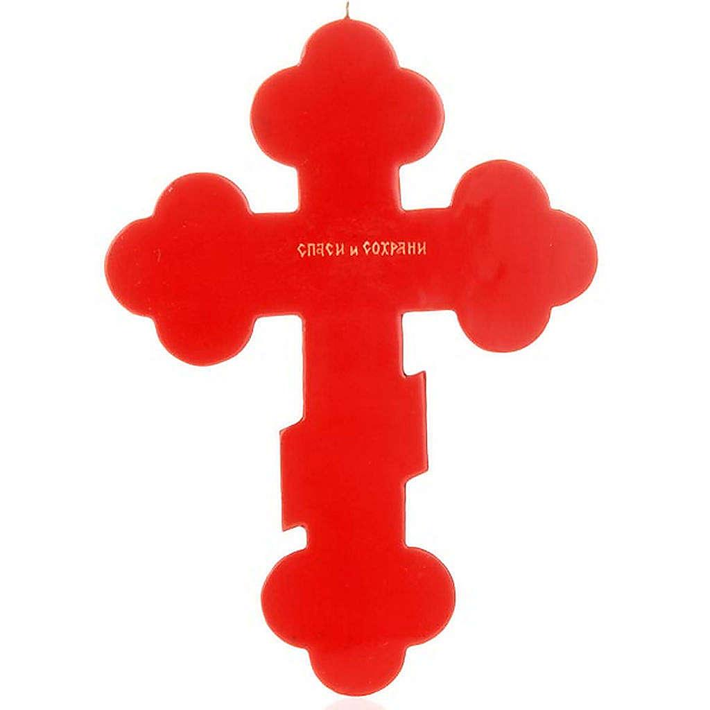 Icona Croce trilobata russa colore rosso 4