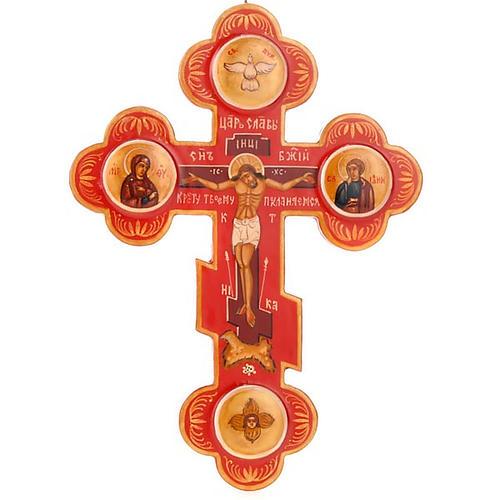 Icona Croce trilobata russa colore rosso 1