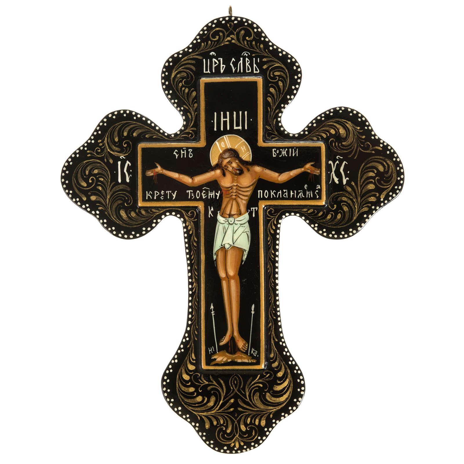 Icône Russe croix Mstjora cm 18x15 4