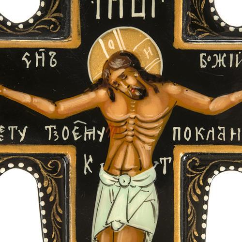 Icône Russe croix Mstjora cm 18x15 2